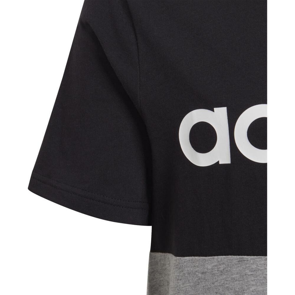 Polera Hombre Adidas Young Boys Linear Colorbock T-shirt image number 5.0