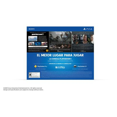 Consola Ps4 Mega Pack 13 Sony Slim 1 TB + 3 Juegos
