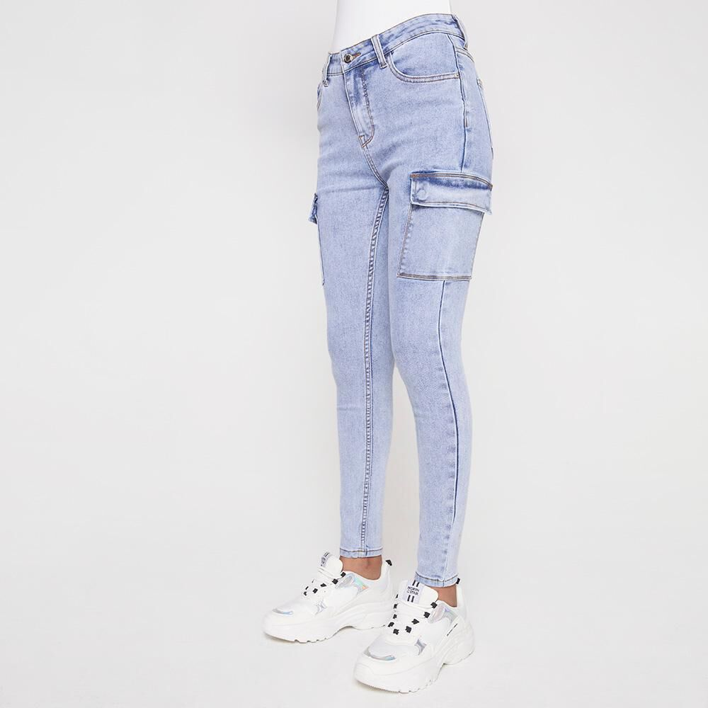 Jeans Mujer Tiro Alto Cargo Rolly Go image number 0.0