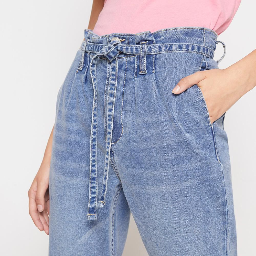 Jeans Mujer Tiro Alto Crop Freedom image number 3.0