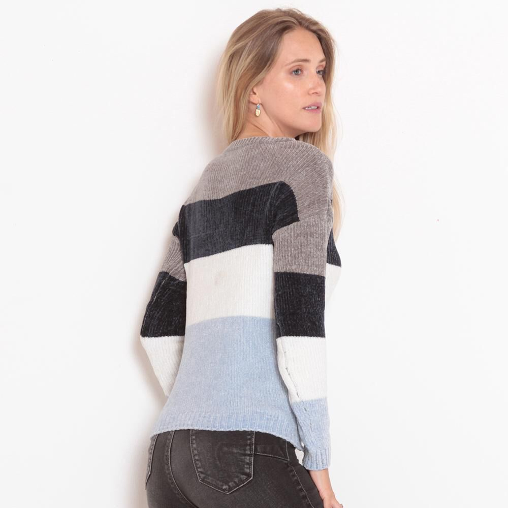 Sweater Chenille Rayas Mujer Wados image number 3.0
