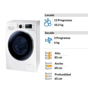 Lavadora - Secadora Samsung Wd10j6410aw 10.5 Kg / 6 Kg