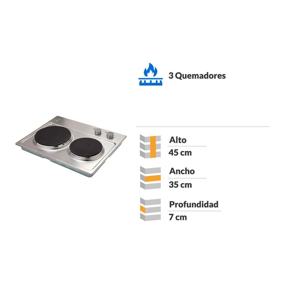 Encimera Eléctrica Convencional Fdv New 2p 50 / 2 Focos image number 1.0