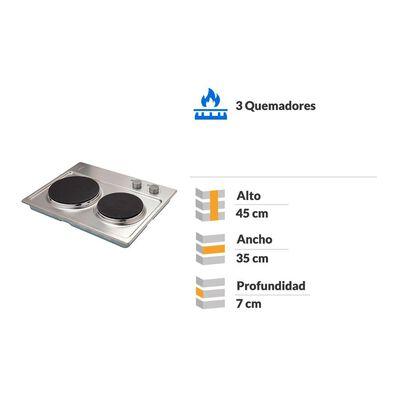 Encimera Eléctrica Convencional Fdv New 2p 50 / 2 Focos