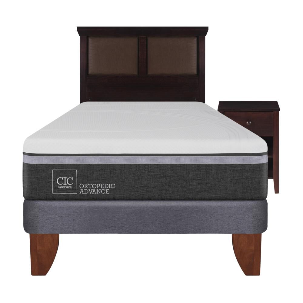 Cama Europea Cic Ortopedic / 1.5 Plazas / Base Normal  + Set De Maderas image number 0.0