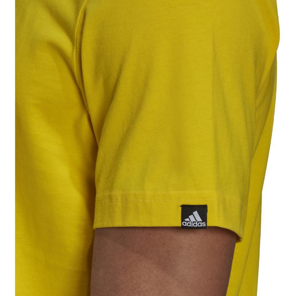 Polera Hombre Adidas Men Brushstroke V4 Tee image number 3.0
