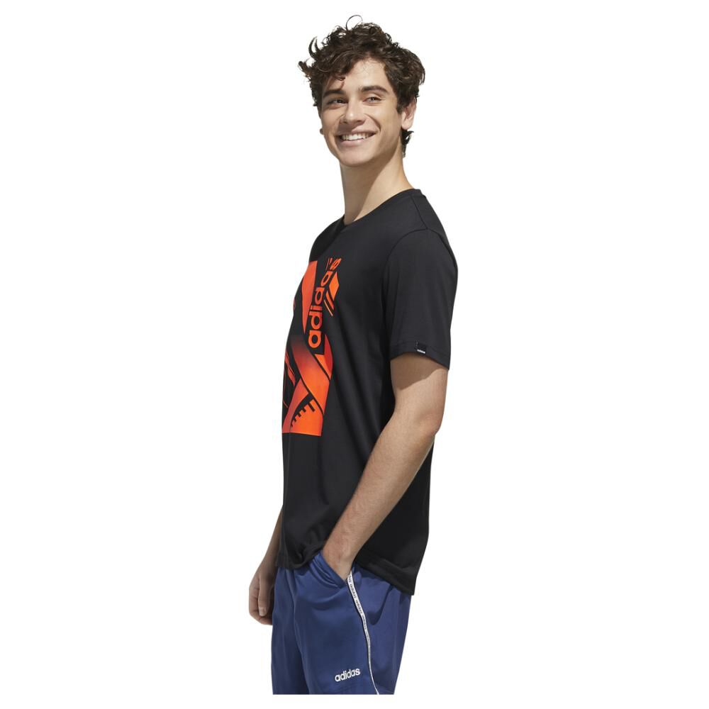 Polera Adidas M Core Graphic Linear Tee 2 image number 3.0