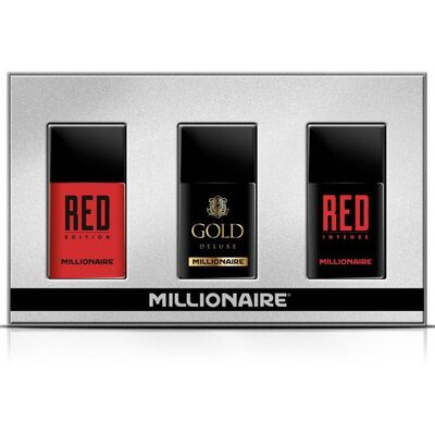 Estuche Millionaire Deluxe Collection Red Edsition 30ml Edp + Red Intense 30ml Edp + Gold Deluxe 30ml Edp Millionare / Edp