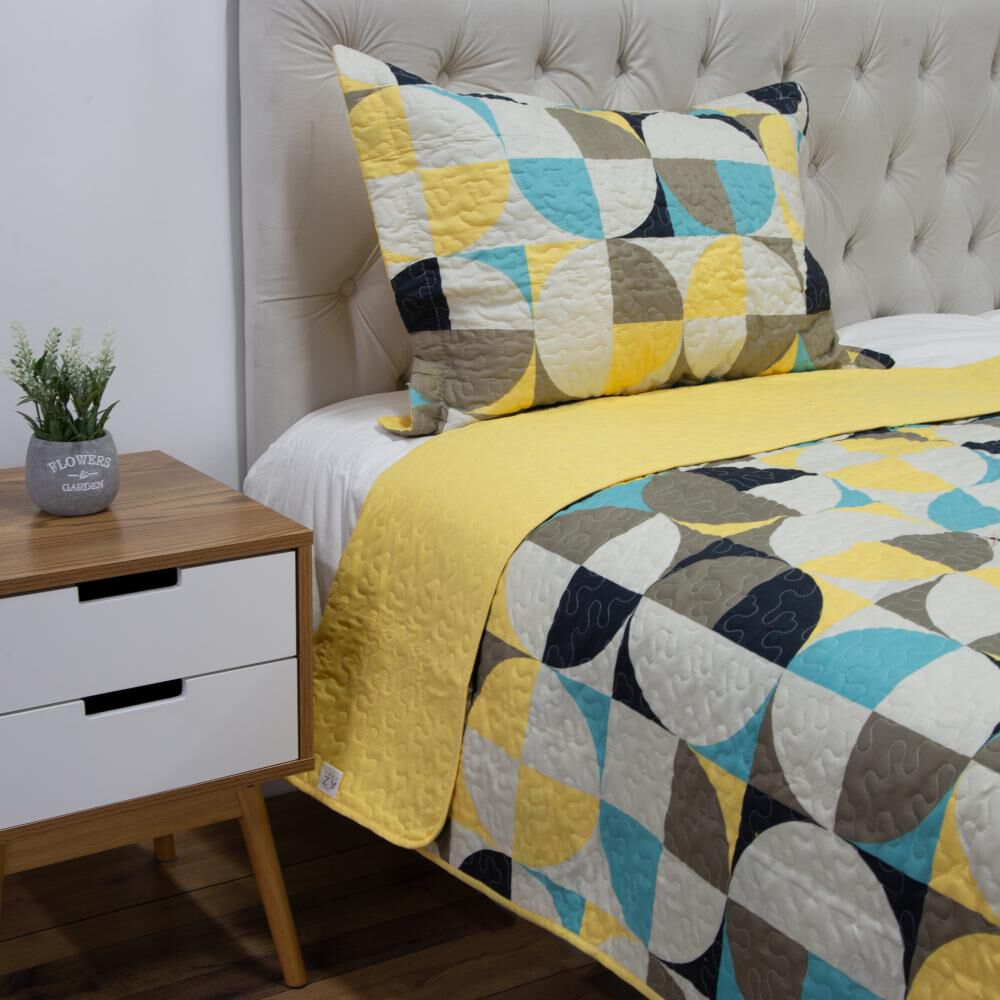 Quilt Azhome Circulo 15p / 1.5 Plazas image number 1.0