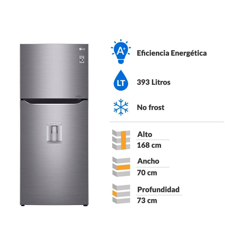 Refrigerador Top Freezer LG LT39WPP / No Frost / 393 Litros image number 1.0