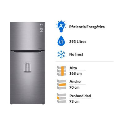 Refrigerador Top Freezer LG LT39WPP / No Frost / 393 Litros