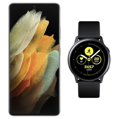 Smartphone Samsung S21 Ultra Plata + Galaxy Active Black