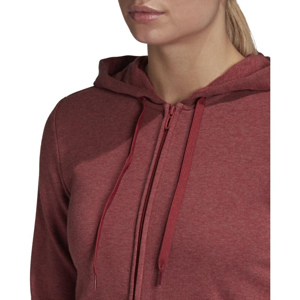 Poleron Deportivo Mujer Adidas Essentials Linear Full Zip image number 4.0