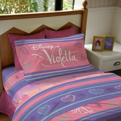 Juego De Sabanas Windsor Violeta Pop Star / 1.5 Plazas