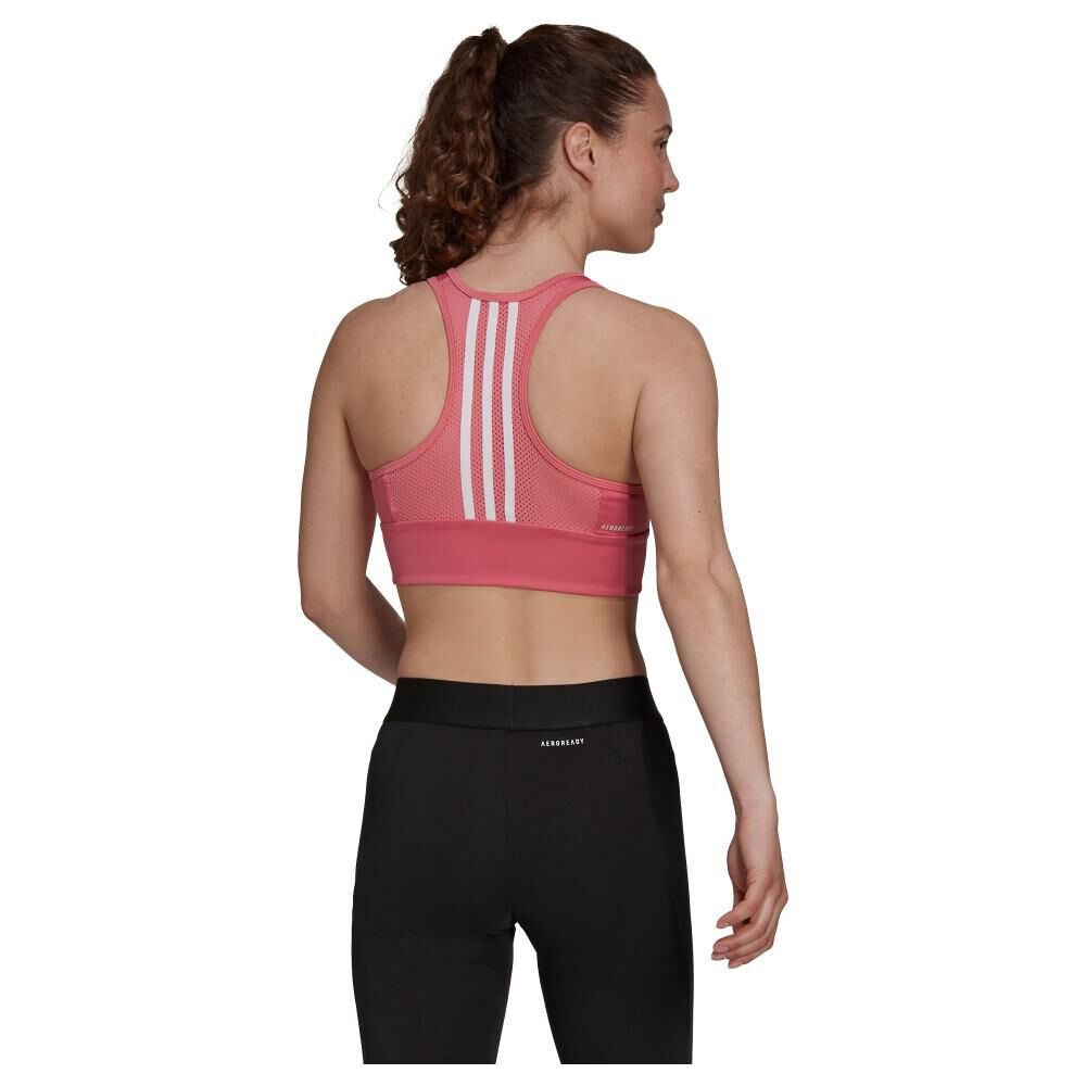 Peto Deportivo Mujer Adidas 3-stripes Padded Sports Crop Top image number 1.0