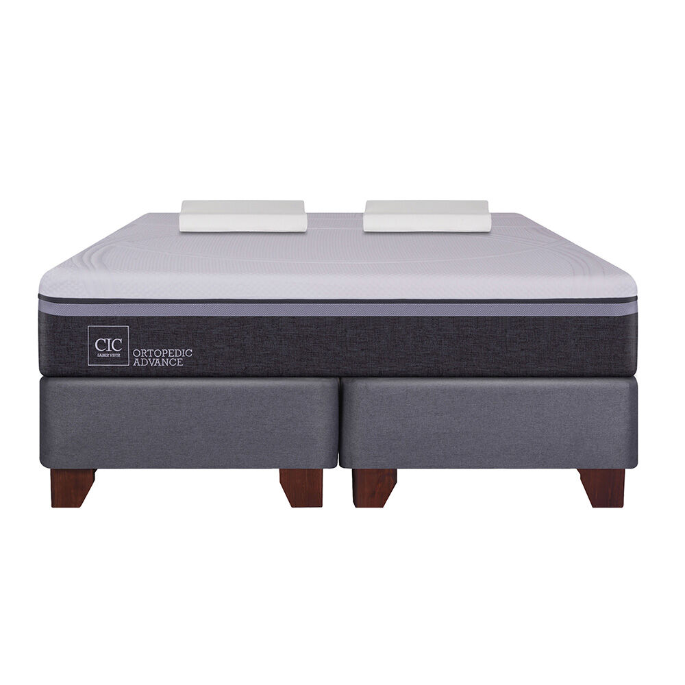 Box Spring Cic Ortopedic Advance / 2 Plazas / Base Dividida + Almohadas Viscoelásticas image number 2.0