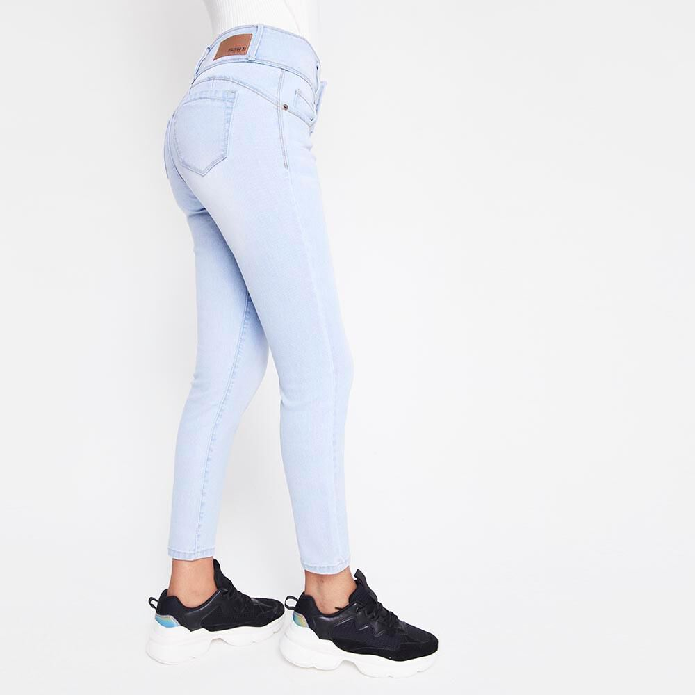 Jeans Mujer Tiro Alto Skinny almohadillas Rolly go image number 2.0
