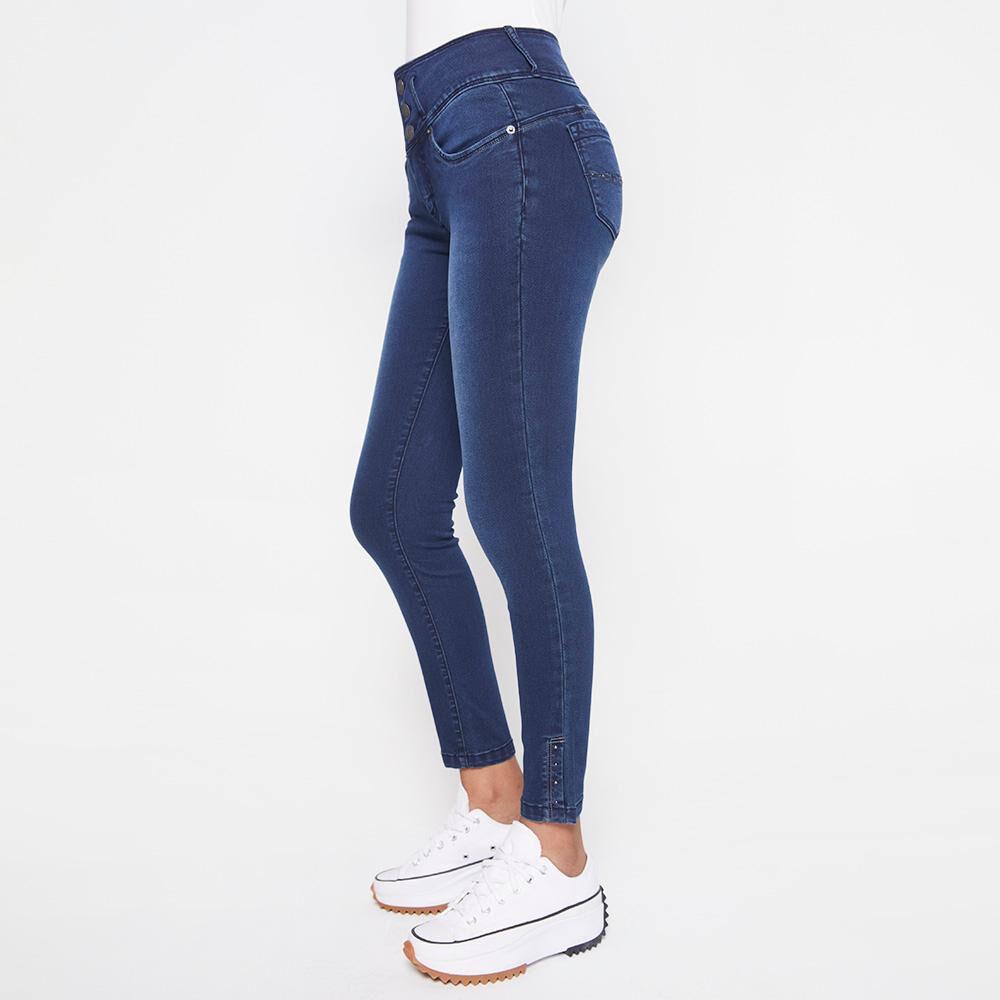 Jeans Mujer Tiro Alto Almohadilla Rolly Go image number 5.0