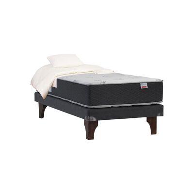 Cama Europea Celta Supreme / 1.5 Plazas / Base Normal + Textil