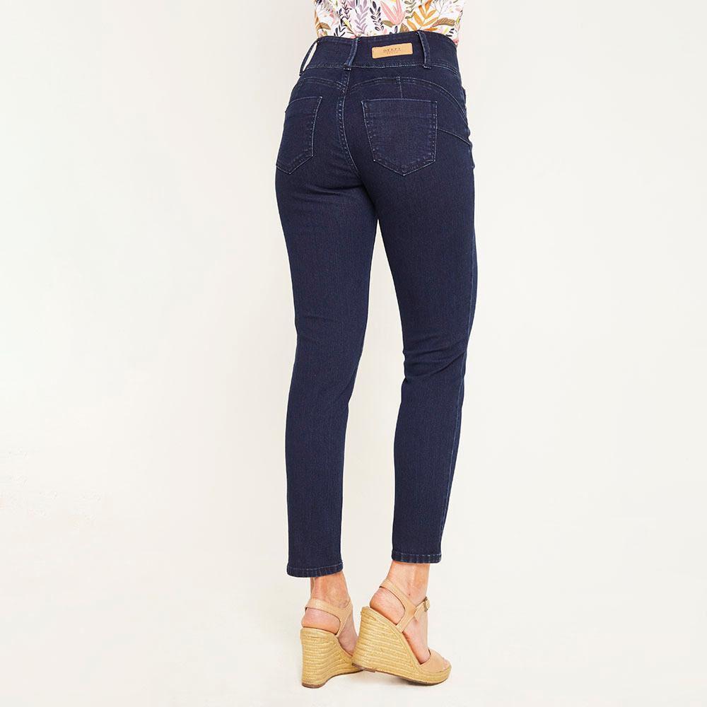 Jeans Tiro Alto Regular Mujer Geeps image number 2.0