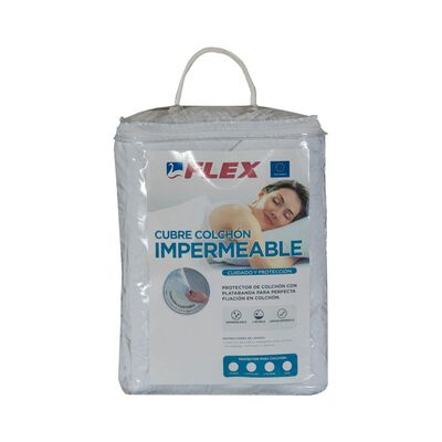 Cubrecolchón Flex Impermeable / 1 Plaza