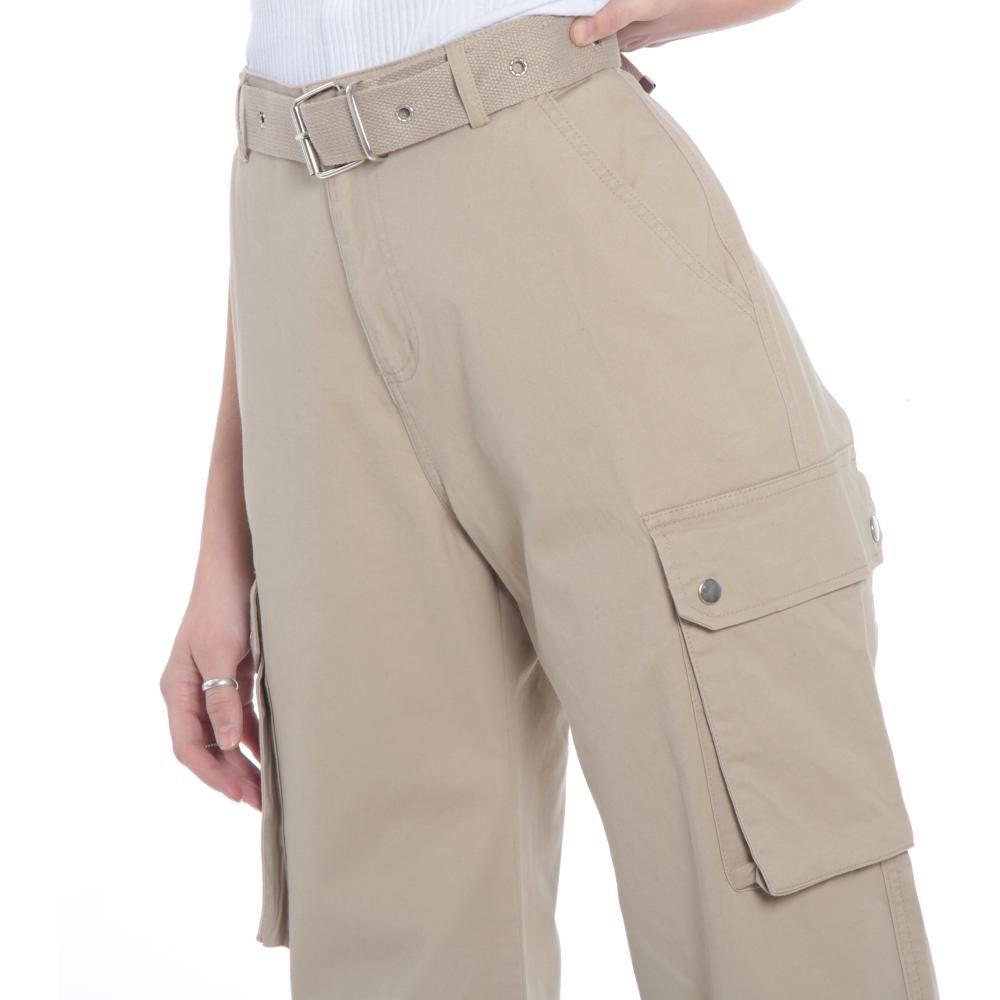 Pantalones Cargo Basta Elasticada Pretina Basica Tiro Alto Mujer Wados image number 1.0