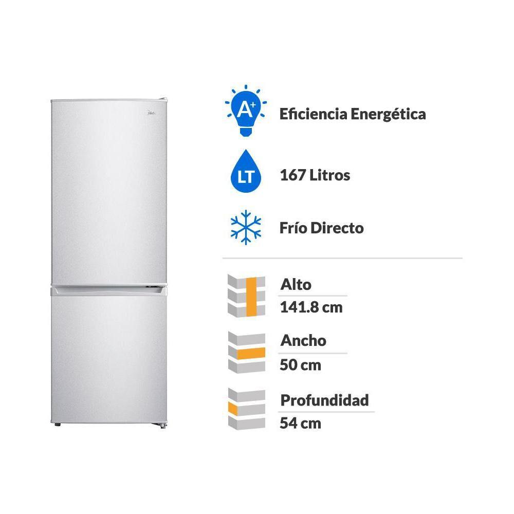 Refrigerador Midea MRFI-1700S234RN / Frío Directo / 167 Litros image number 1.0