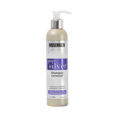 Shampoo Corrector Pure Silver 240 Ml Capilatis