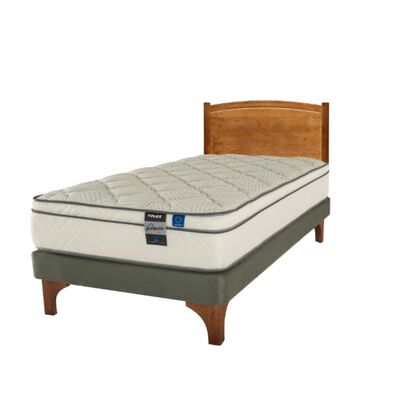 Cama Europea Flex Valencia / 1.5 Plazas / Base Normal  + Respaldo