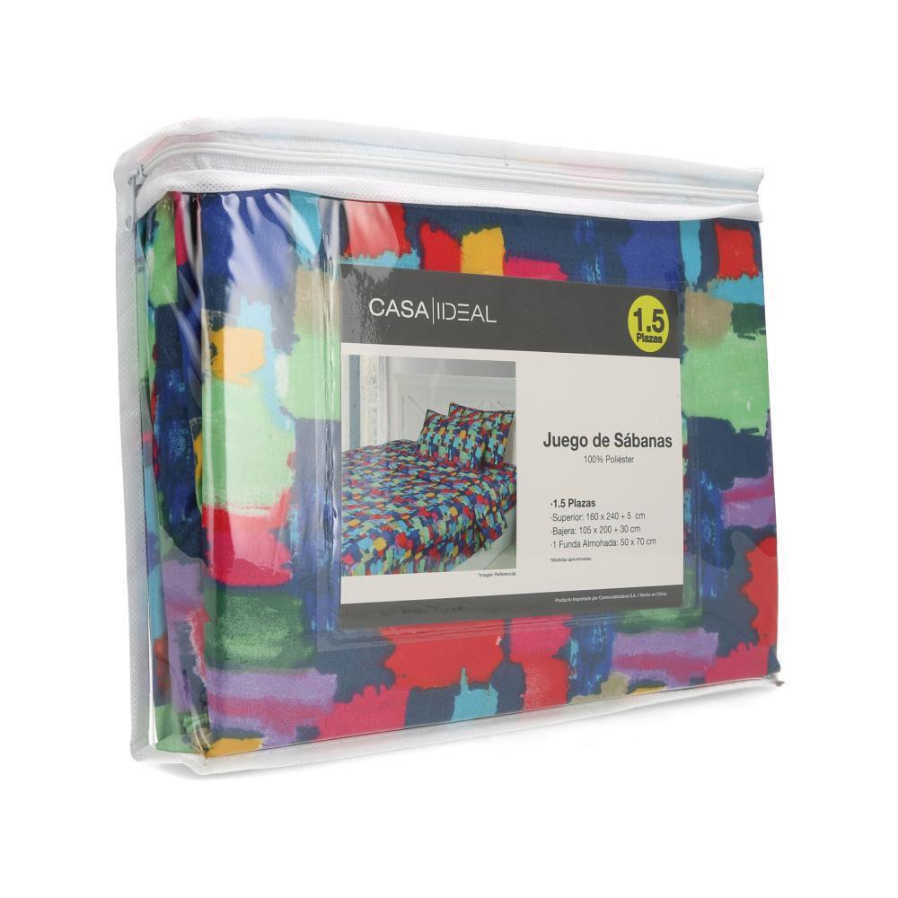 Juego De Sábanas Casaideal Mosaico 1,5 / 1.5 Plazas image number 3.0