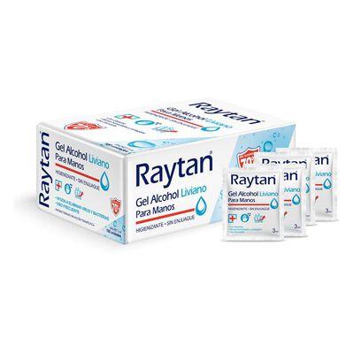 Set Sachets Alcohol Gel Raytan / 100 Unidades 3 Ml