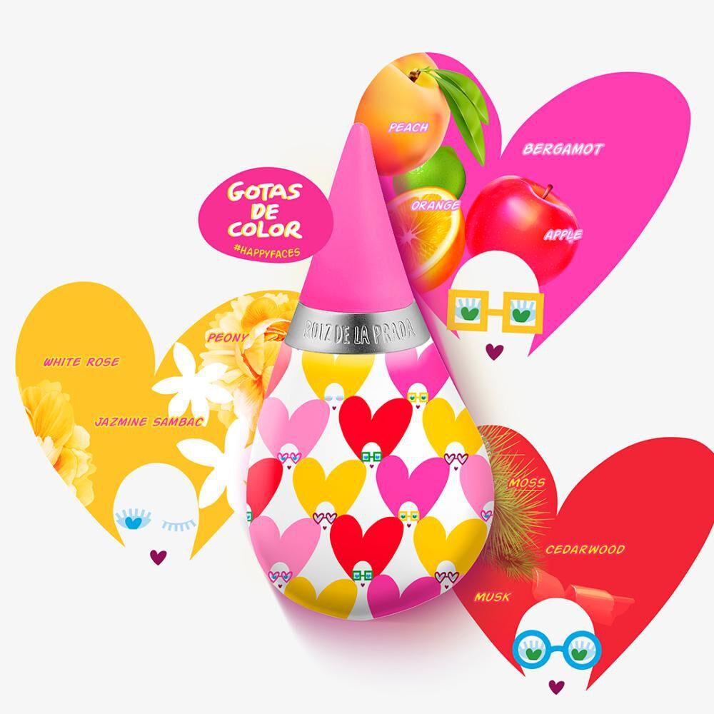 Perfume Mujer Gotas Happy Faces Agatha Ruiz De La Prada / 100 Ml / Eau De Toilette image number 2.0