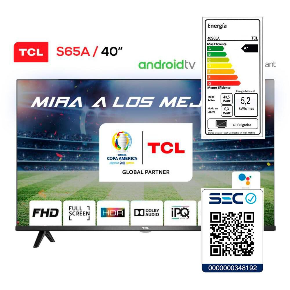 Led Tcl 40S65 / 40'' / Full Hd / Android Tv image number 7.0