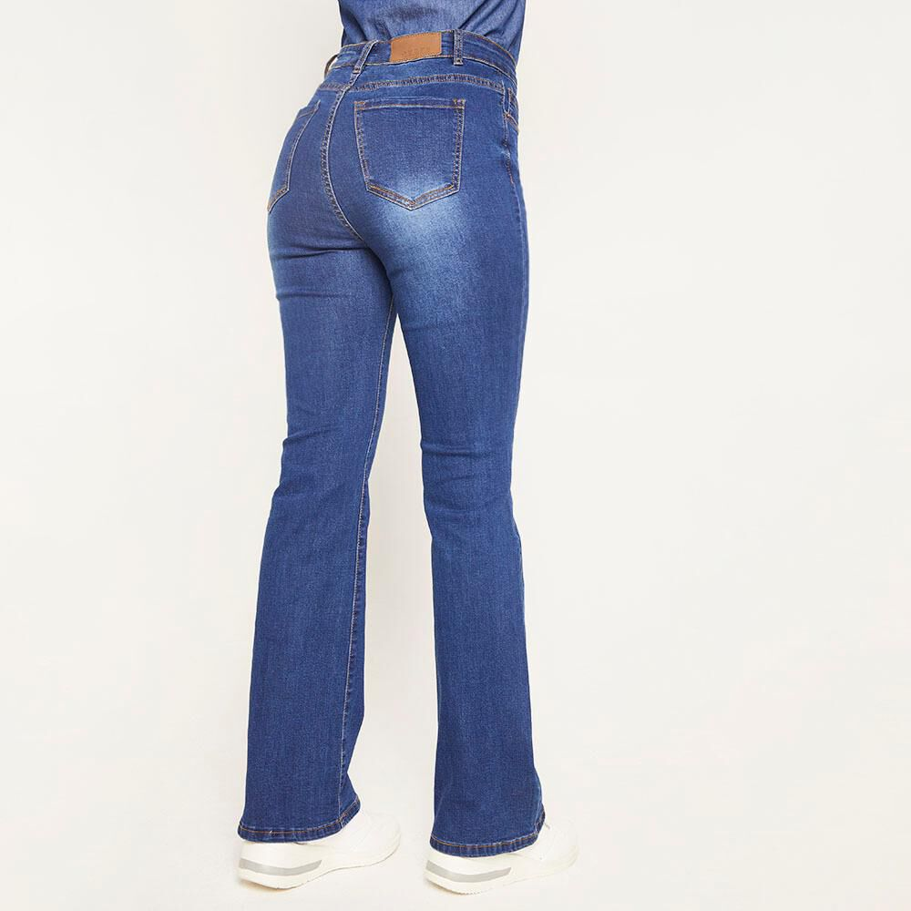 Jeans Tiro Medio Flare Mujer Geeps image number 2.0