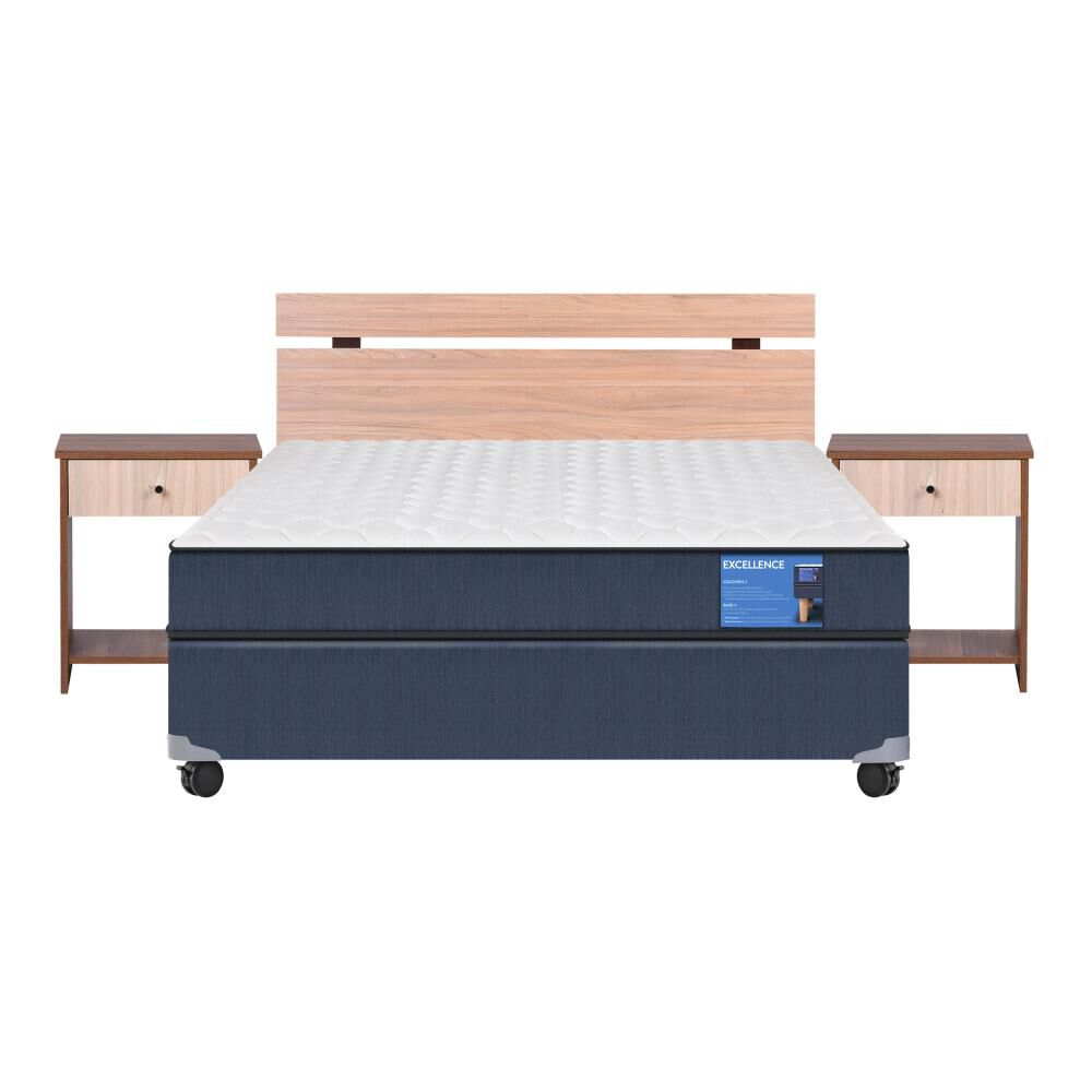 Cama Americana Cic Excellence / Full / Base Normal  + Set De Maderas image number 0.0