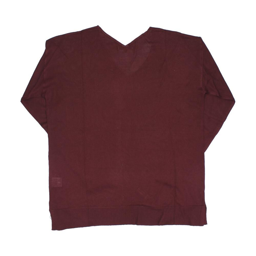 Sweater Liso Cuello V Mujer Kimera image number 1.0