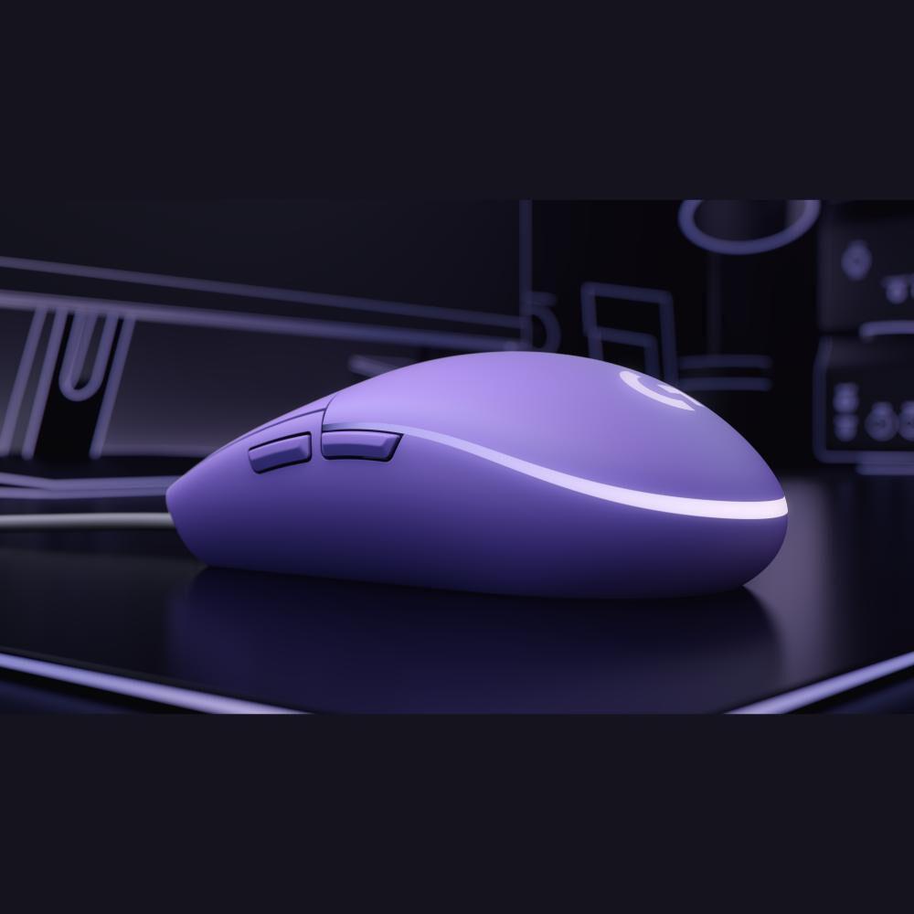 Mouse Gamer Logitech G203 Lilac image number 3.0