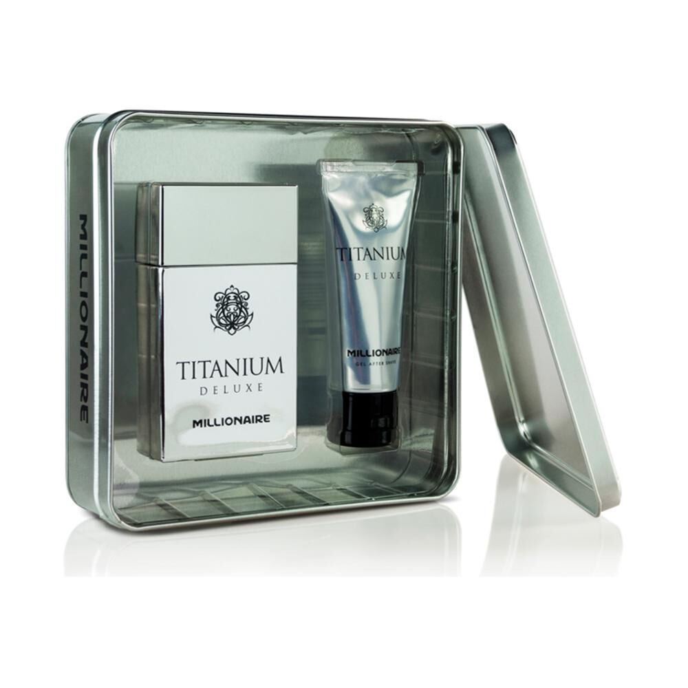 Perfume Titanium Deluxe Millionaire / 100 Ml / + Gel After Shave / 75ml image number 0.0