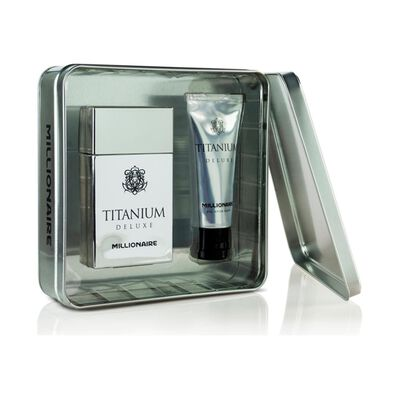 Perfume Titanium Deluxe Millionaire / 100 Ml / + Gel After Shave / 75ml