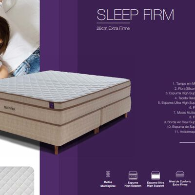 Cama Europea Mannes Sleep Firm / 2 Plazas / Base Dividida