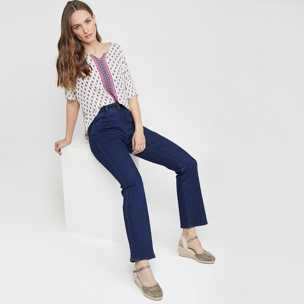 Jeans Mujer Tiro Alto Recto Geeps image number 1.0
