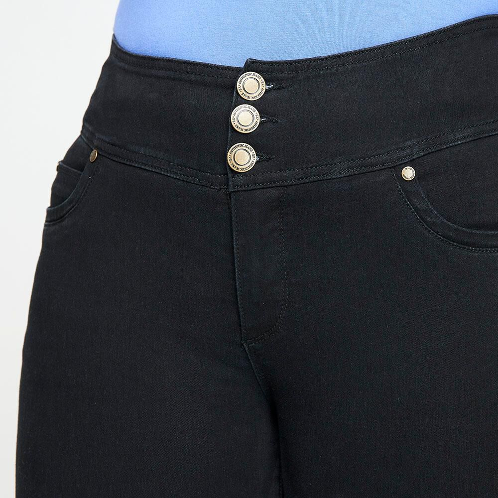 Jeans Tiro Alto Recto Push Up Mujer Sexy Large image number 3.0
