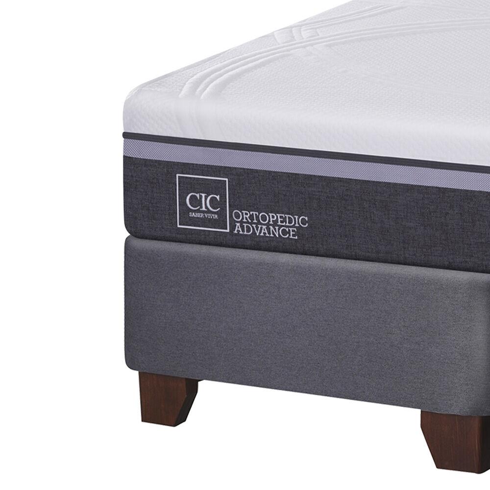 Box Spring Cic Ortopedic Advance / 2 Plazas / Base Dividida + Almohadas Viscoelásticas image number 3.0