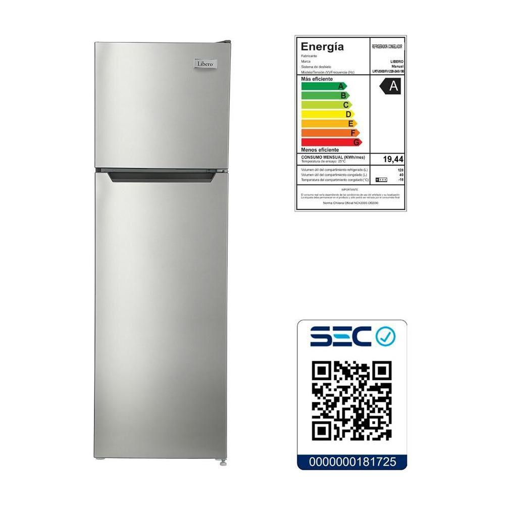 Refrigerador Top Freezer Libero LRT-200DFI / Frío Directo / 168 Litros image number 5.0