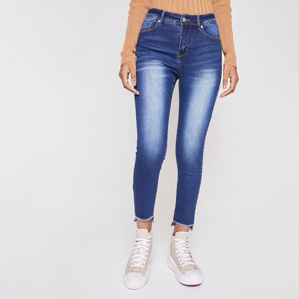 Jeans Mujer Tiro Alto Push Up Rolly Go image number 0.0