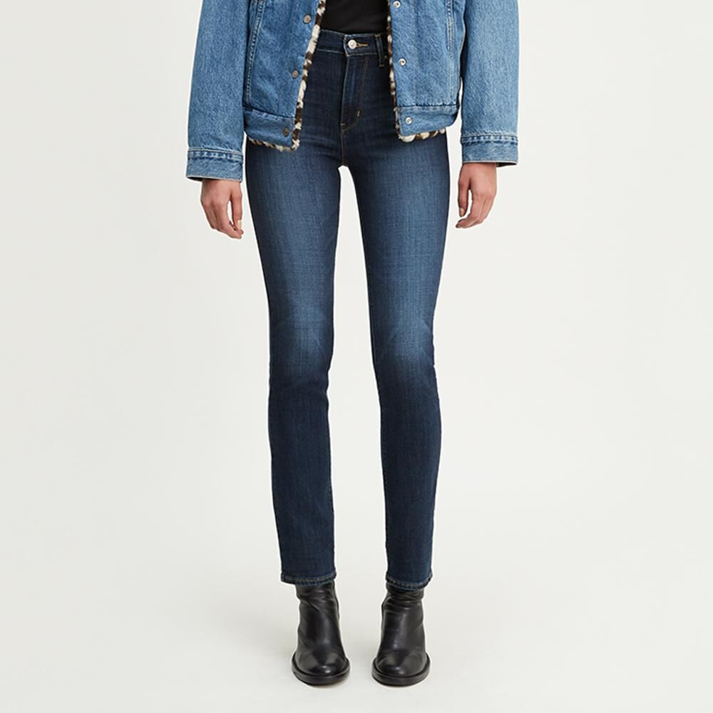 Jeans Mujer Straight Fit Tiro Alto Levi's 724 image number 1.0