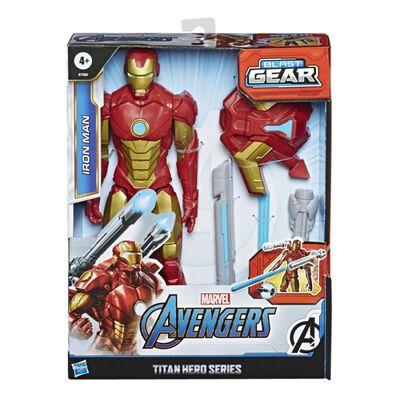 Figura De Accion Avenger Blast Gear Titan Iron Man