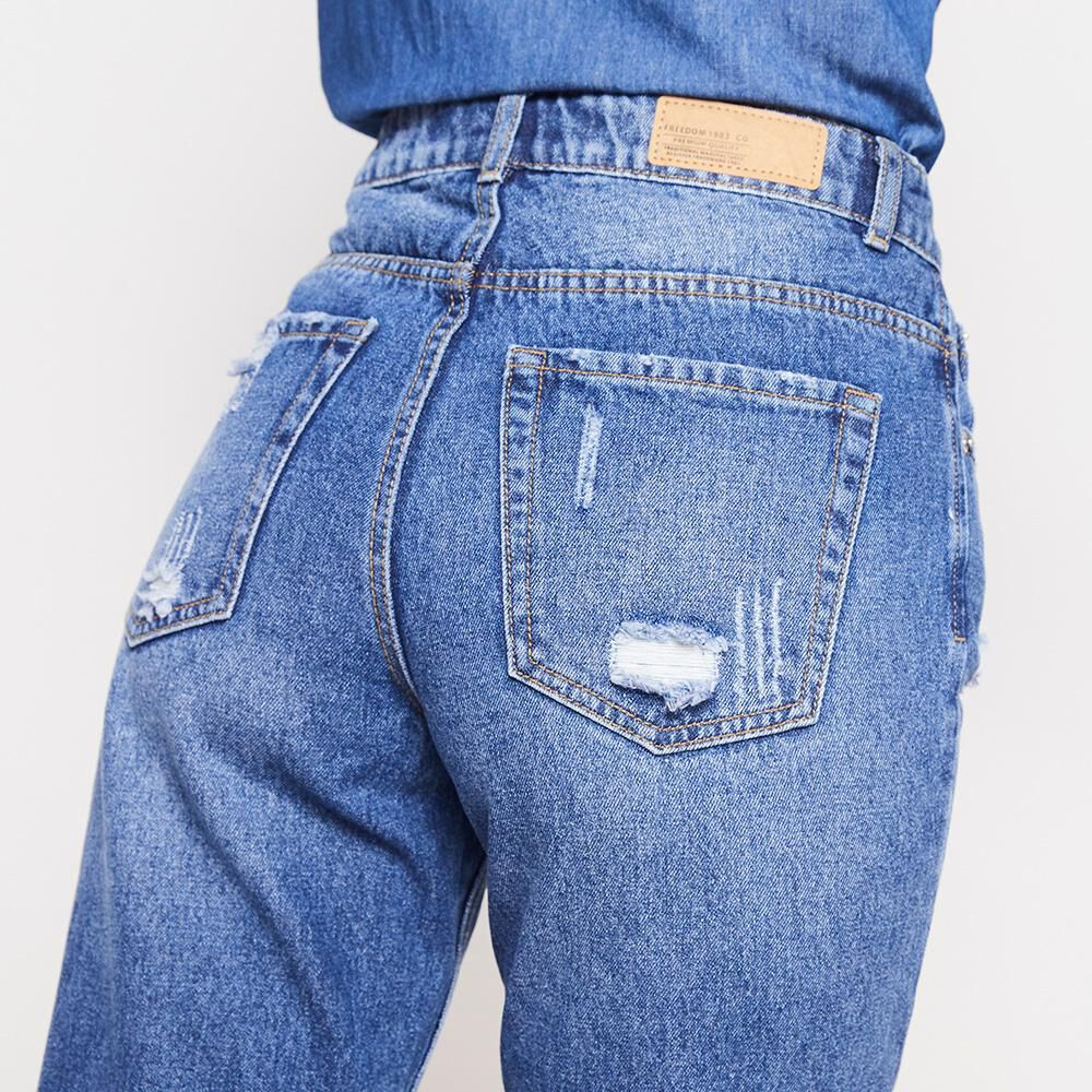 Jeans Mujer Tiro Alto Mom Freedom image number 4.0