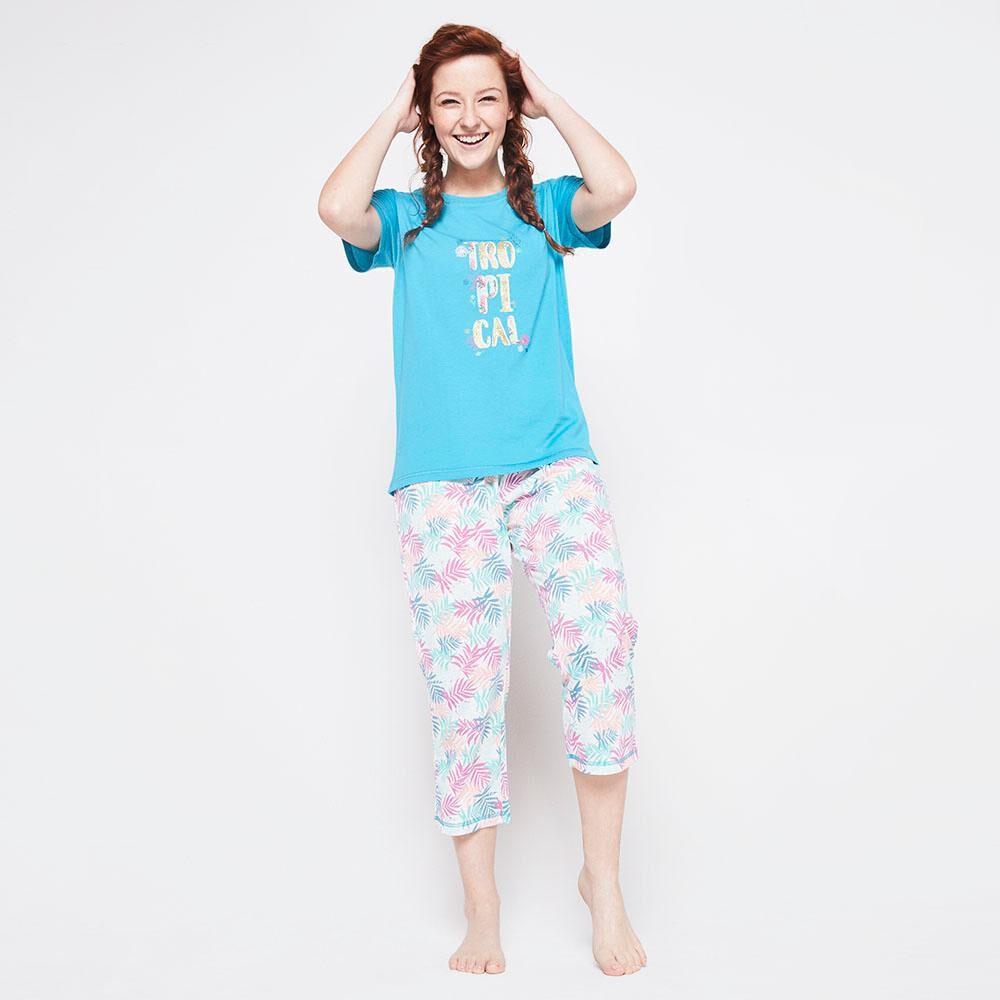 Pijama Capri Algodón Mujer Freedom image number 1.0