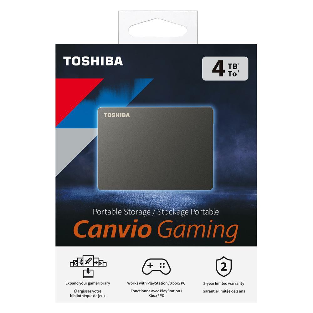Disco Duro Portátil Toshiba Canvio Gaming / 4 Tb image number 5.0
